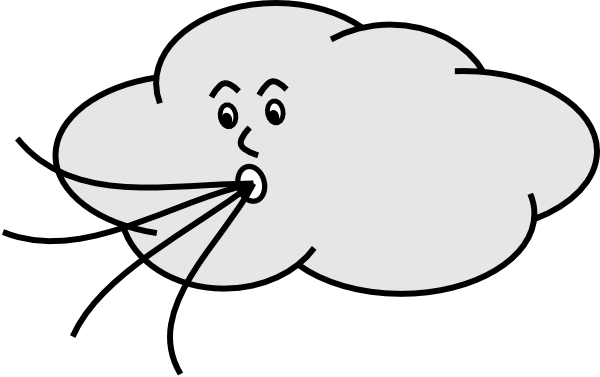 Wind Blowing Cloud Clip Art At Clker Com   Vector Clip Art Online