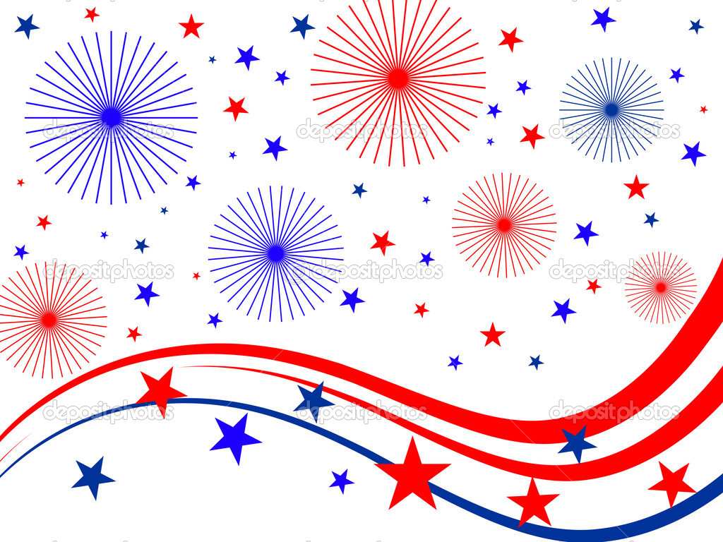4th July Background   Stock Vector   Andreakaulitzki  3789889