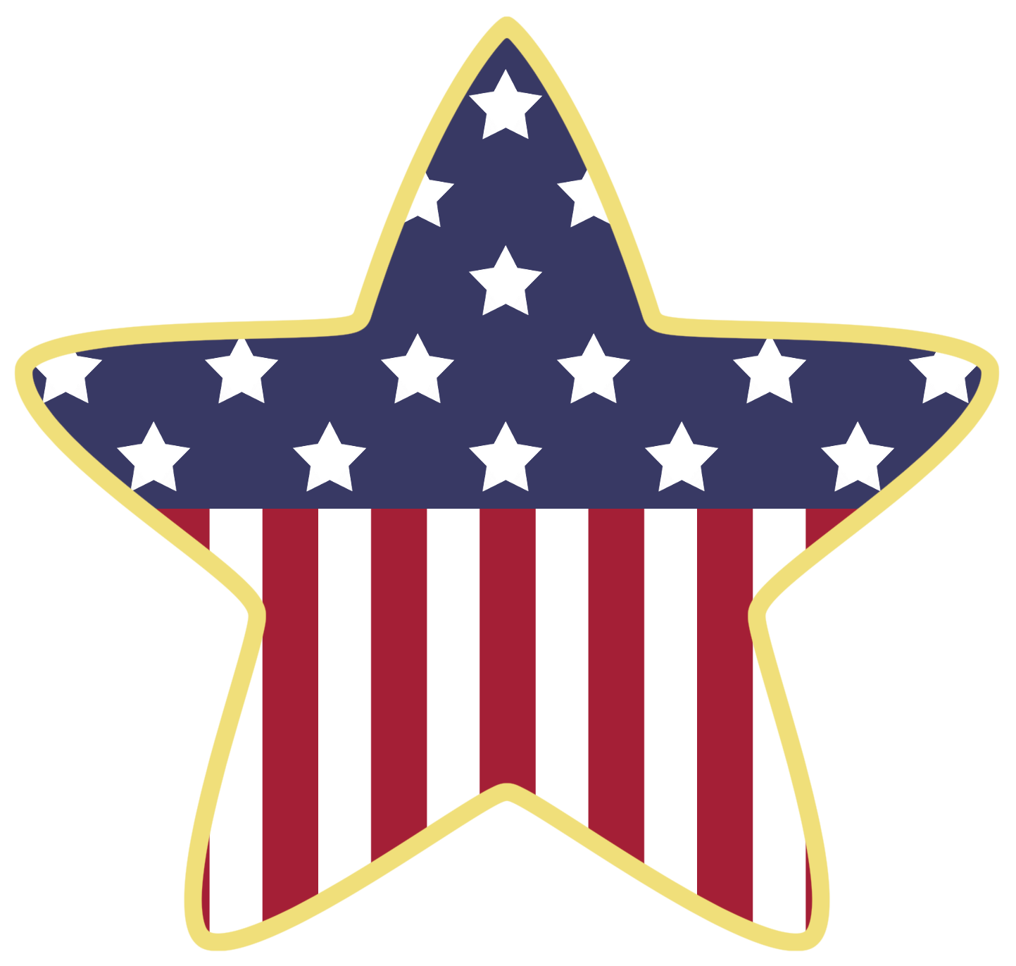 4th Of July Star Clipart   Clipart Best