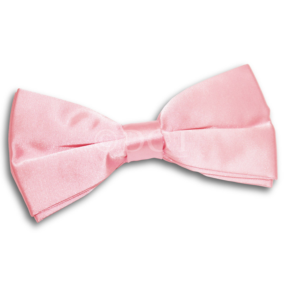 Bow Ties Men S Plain Baby Pink Satin Bow Tie