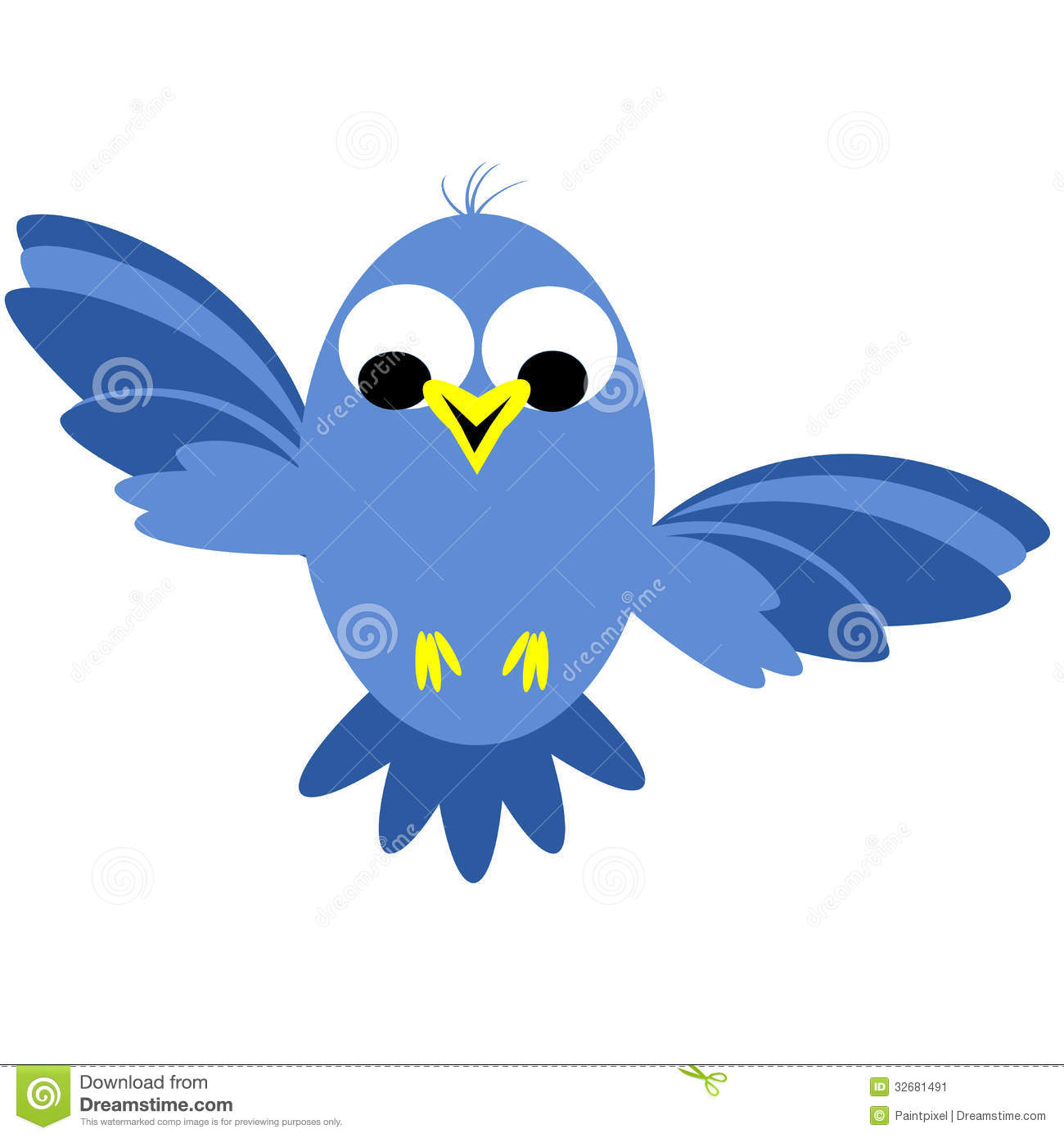 Blue Bird Flying Clipart - Clipart Kid
