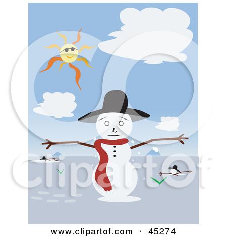 Small Snowman Melting Clipart - Clipart Kid
