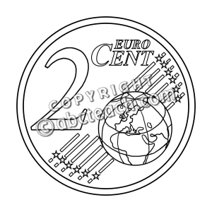 Of 1 Clip Art Euro 2 Cent B W Money Illustration Black And White Clip