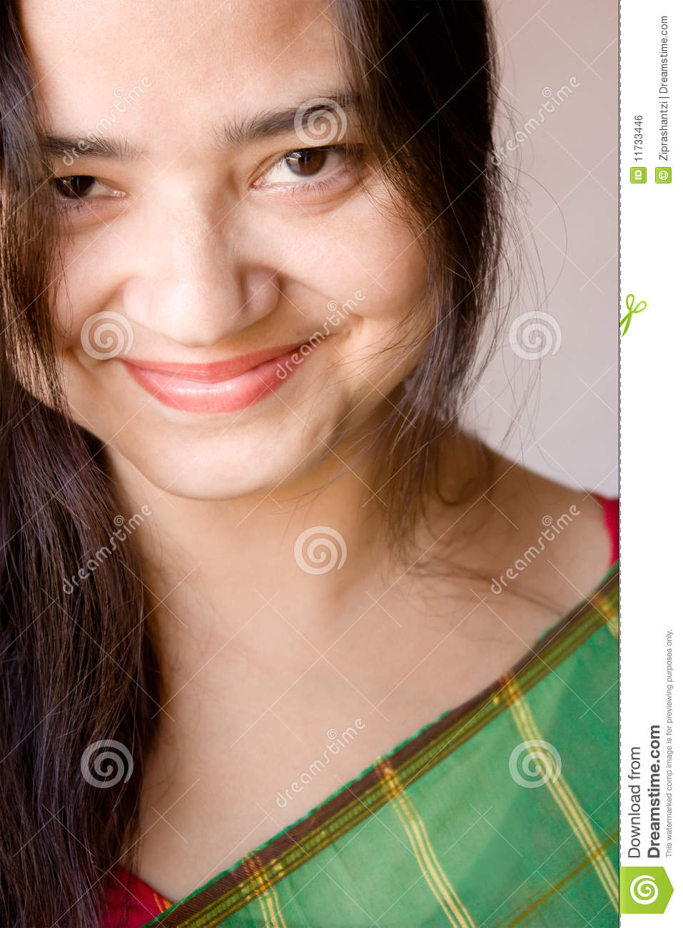 Shy Smile Of Beautiful Indian Women Royalty Free Stock Image   Image