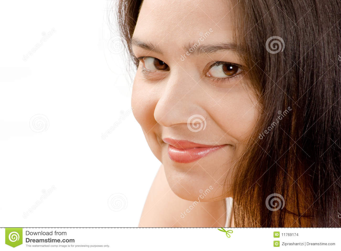 Shy Smile Of Beautiful Indian Women Stock Images   Image  11769174