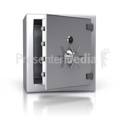Steel Safe Open   Home And Lifestyle   Great Clipart For Presentations