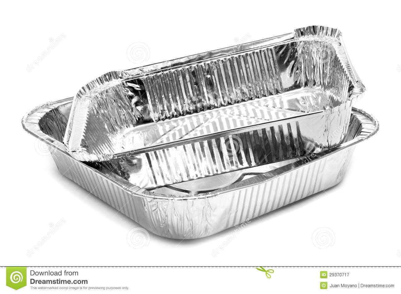 Aluminium Foil Trays Royalty Free Stock Photography   Image  29370717