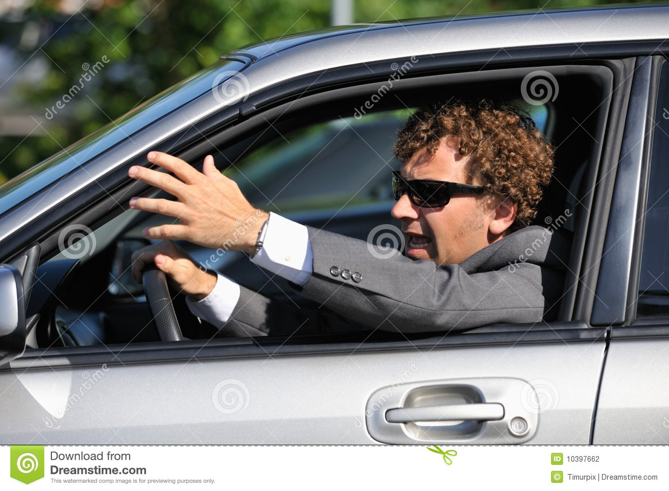 Angry Driver Stock Photography   Image  10397662