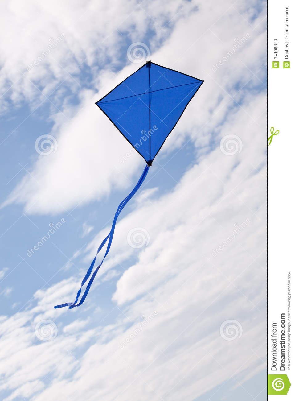 Blue Kite Flying Stock Photos   Image  34108813