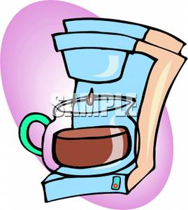 Cartoon Coffee Pot   Royalty Free Clipart Picture