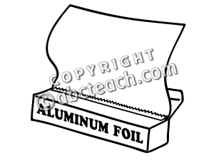 Clip Art  Basic Words  Foil B W Unlabeled   Preview 1
