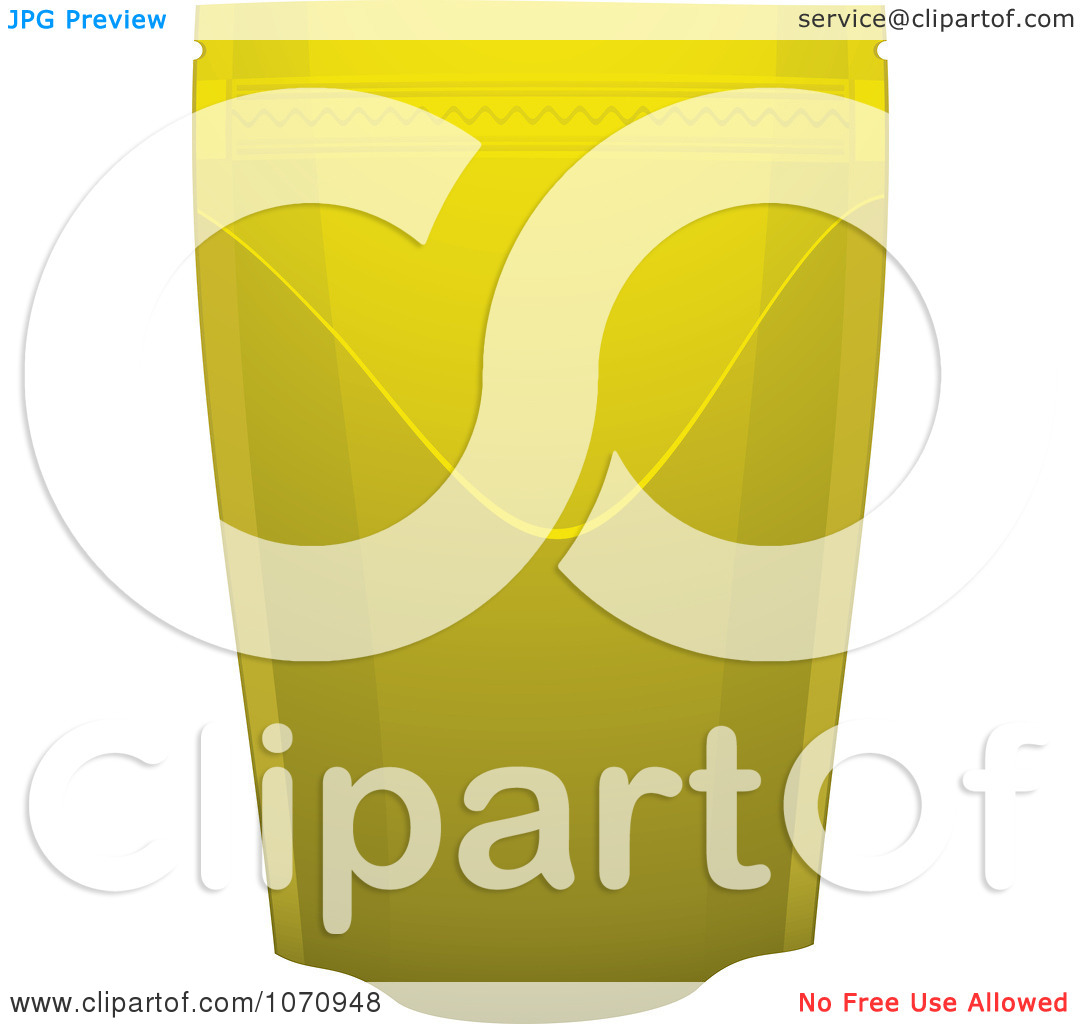 Clipart 3d Gold Foil Food Pouch   Royalty Free Vector Illustration By