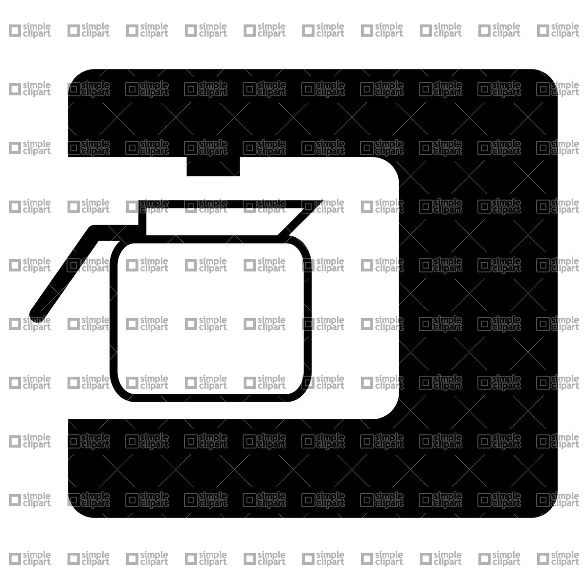 Clipart   Technology   Coffee Machine Pictogram Vector Clipart