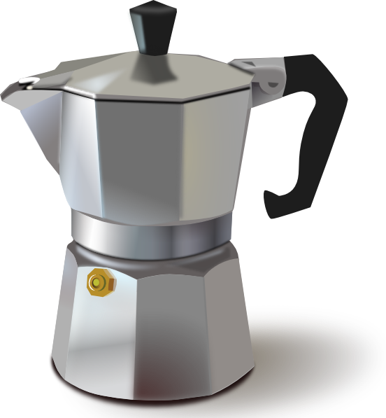 Italian Coffee Maker Clip Art At Clker Com   Vector Clip Art Online