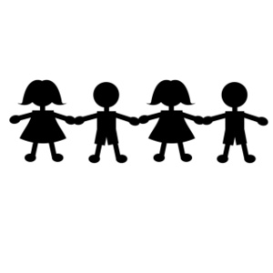 Holding Hands Students Clipart - Clipart Kid
