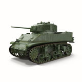 M5a1 Stuart Light Wwii Us Tank On White Background Royalty Free Stock