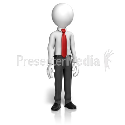 Man Shirt Tie Standing   Presentation Clipart   Great Clipart For