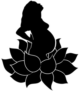 Pregnant Clipart Image   Pregnant Woman With Big Belly In A Lotus
