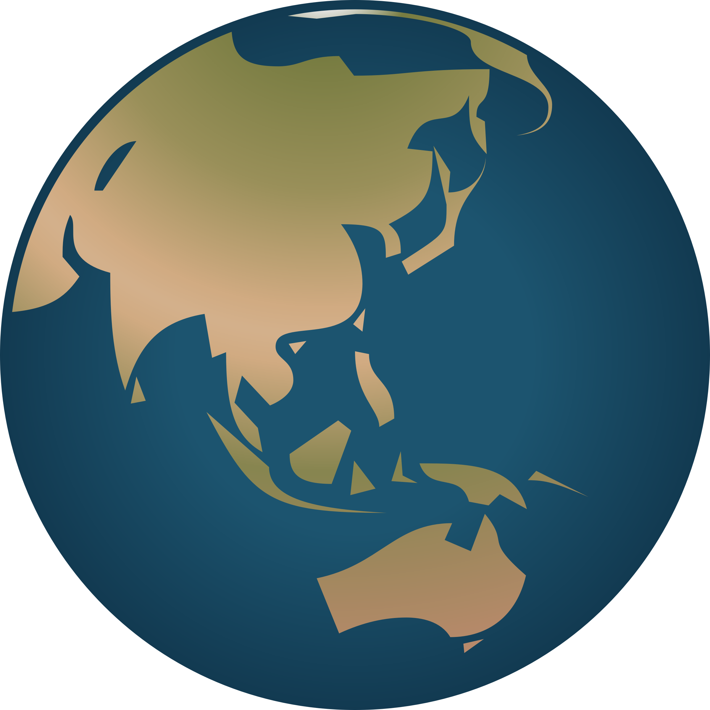 Simple Globe Facing Asia And Australia By Sev