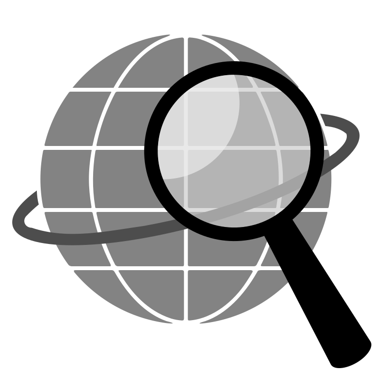 Simple Globe Search By Bnielsen   A Simple Globe Search Icon