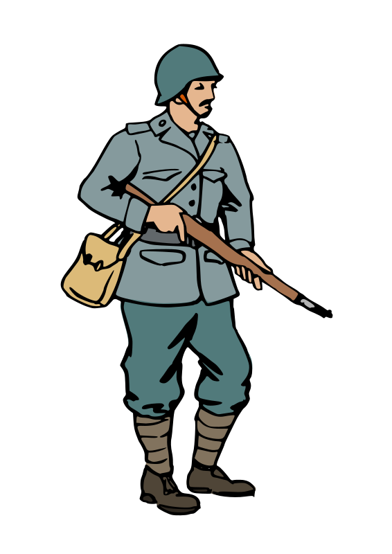 Clip Art Soldiers during WW1
