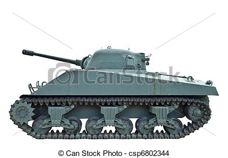 Stock Photo   Profile Of Wwii Tank   Stock Image Images Royalty Free