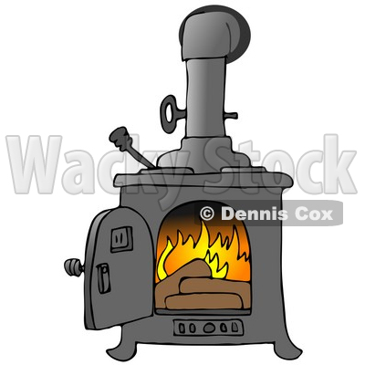 Stove To Keep A House Warm Clipart Illustration   Dennis Cox  16146