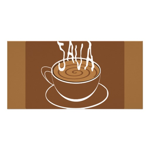 1285033523 Vector Clipart Java Typography Coffee Photo Cards   Zazzle