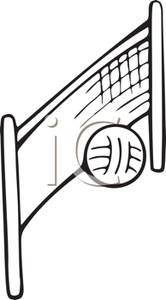 Beach Volleyball Net Clipart A Volleyball Net And Volleyball Royalty