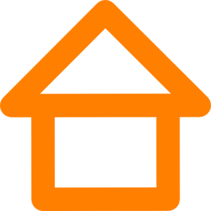 Building Outline Clipart Orange House Outline Md Png