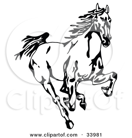 mustang2. running horse outline clipart library free clipart