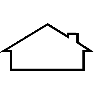House Roof Outline Clipart   Clipart Panda   Free Clipart Images