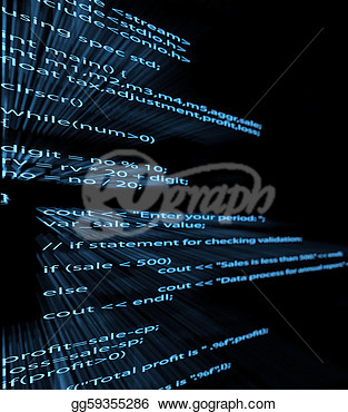 Illustration Of Computer Program Code  Clip Art Gg59355286