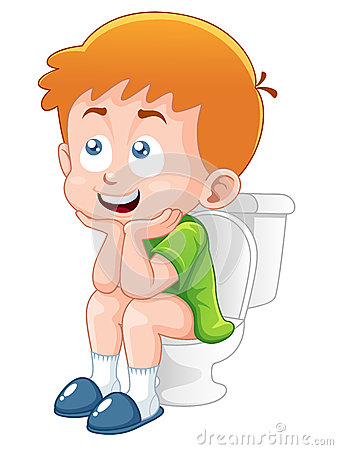 Little Boy Is Sitting On The Toilet Royalty Free Stock Photo   Image