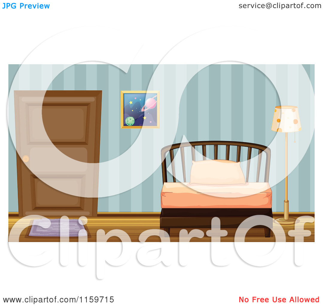 Untidy Bedroom Art: Messy Bed Clipart