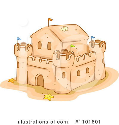 Royalty Free  Rf  Sand Castle Clipart Illustration  1101801 By Bnp