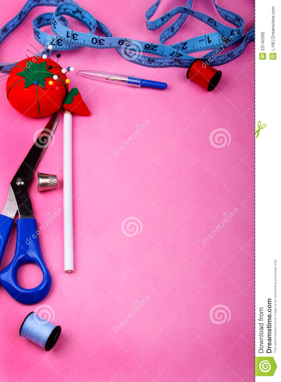 Sewing Border Clipart Vertical Border Of Sewing Tool