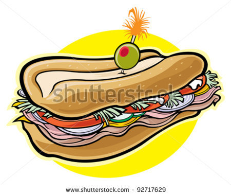 Sub Sandwich Drawing   Clipart Panda   Free Clipart Images
