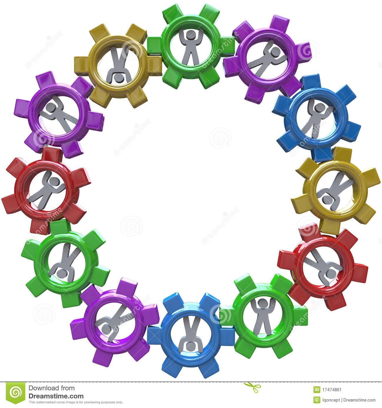 Synergize Clipart Synergy   Circle Of People Turning In Gears Stock