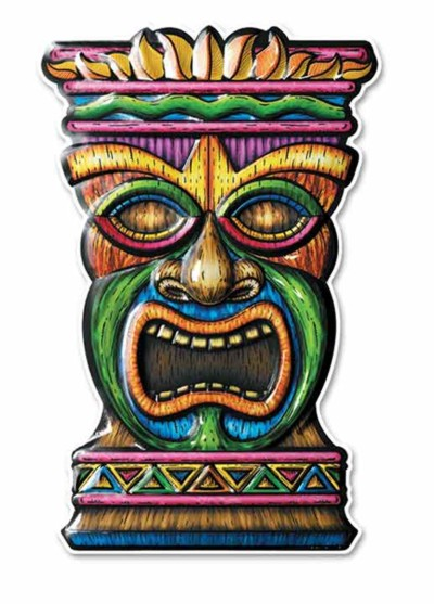 Tiki 3 D Art Form Plastic Dimensional D Party Supplies