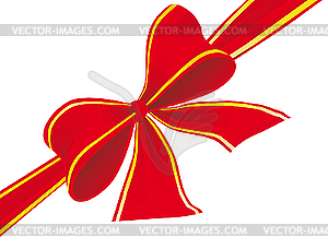 Big Bow Of Red Ribbon   Vector Clipart