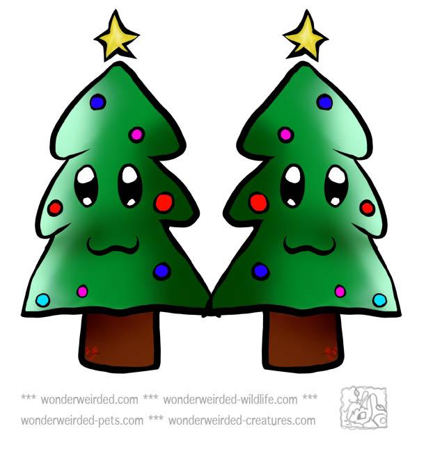 christmas tree decoration cartoon - photo #33