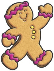 Gingerbread Man Clip Art Black And White   Clipart Panda   Free