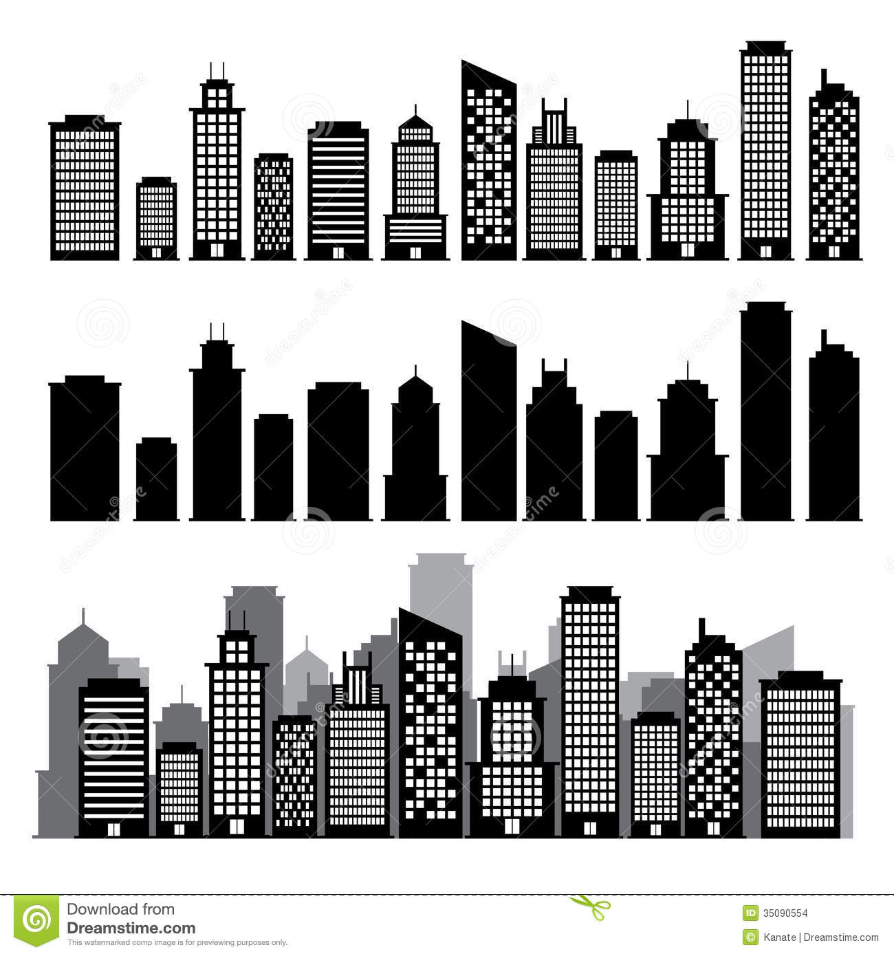 Building Black And White Clipart Clipart Kid