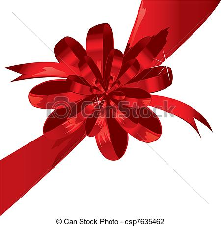 Of Big Red Holiday Bow On White Background Csp7635462   Search Clipart