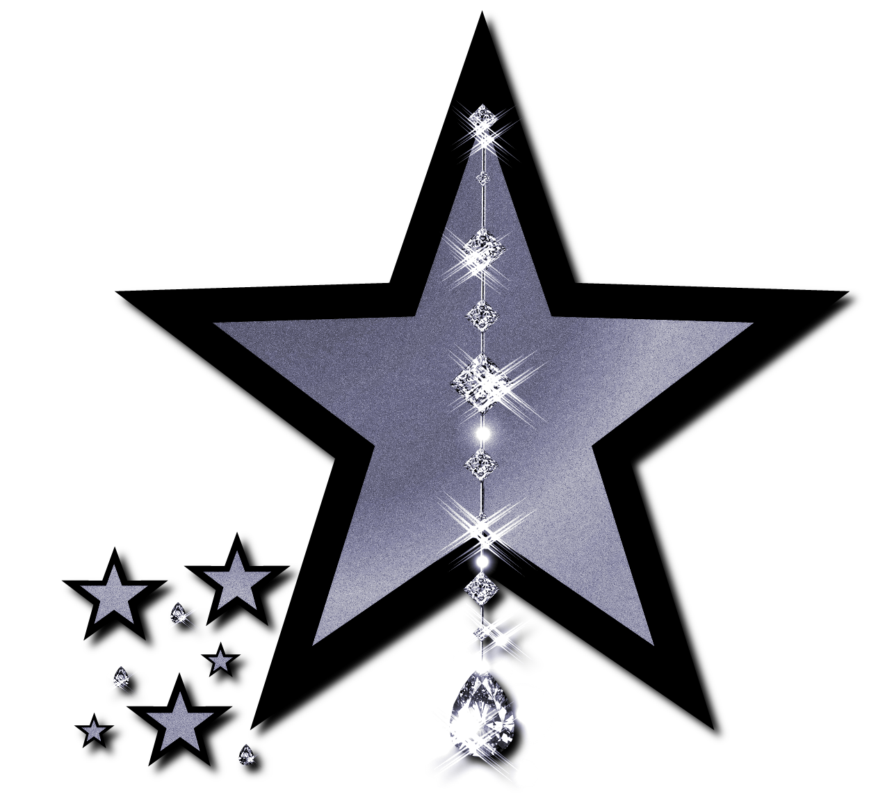 Silver And Black Star Clip Art By Jssanda On Deviantart