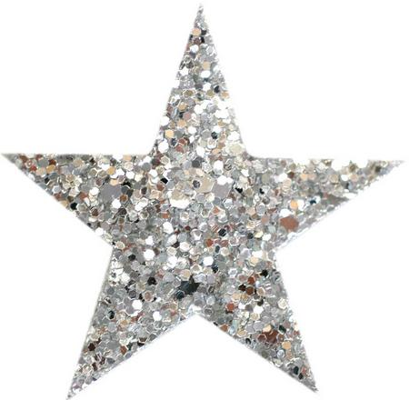 Star Glitter Coarse Grained Hair Clips Star Shaped Hair Clip