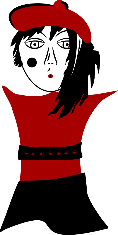 Artsy Style Girl   Http   Www Wpclipart Com Clothes Dress Artsy Style