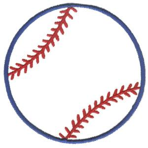 Baseball Outline Clipart - Clipart Kid