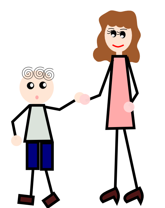 Boy Holding Mother Hand Clipartsy Com Svg Clipartsy Com